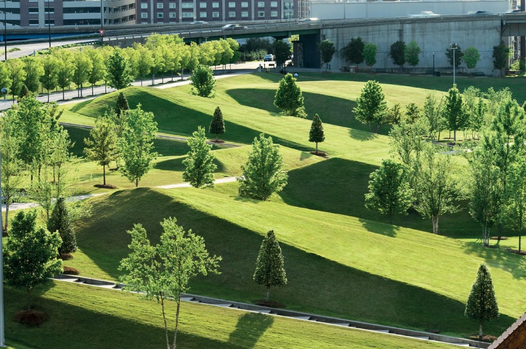 威廉J.克林顿总统中心公园William J. Clinton Presidential Center by Hargreaves Associate