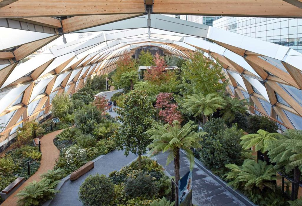 Crossrail place roof garden by Gillespies