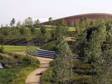 Queen Elizabeth Olympic Park UK by Hargreaves Associate